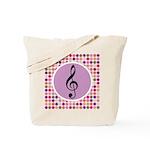 Music Treble Clef Tote Bag