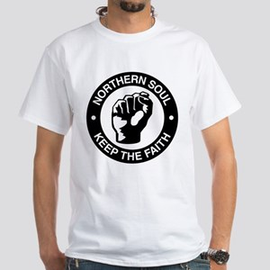 Northern Soul Keep the Faith White T-Shirt