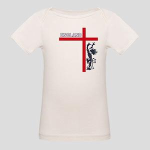 England Lion & Cross Organic Baby T-Shirt