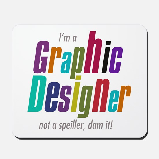 Graphic speller Mousepad
