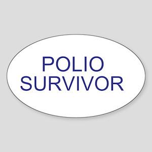 Polio Survivor Oval Sticker