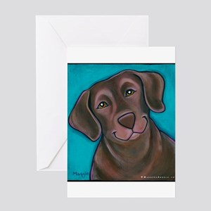 "Chocolate Lab ""Hershey"" Greeting Card"