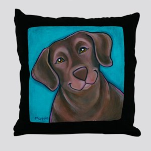 "Chocolate Lab ""Hershey"" Throw Pillow"