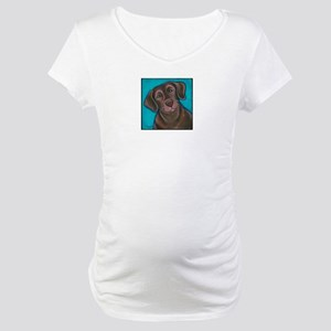 "Chocolate Lab ""Hershey"" Maternity T-Shirt"