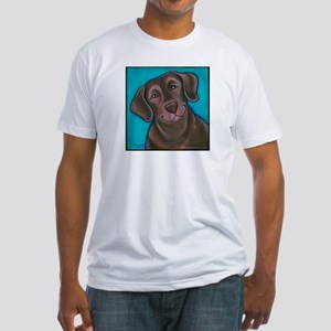 "Chocolate Lab ""Hershey"" Fitted T-Shirt"