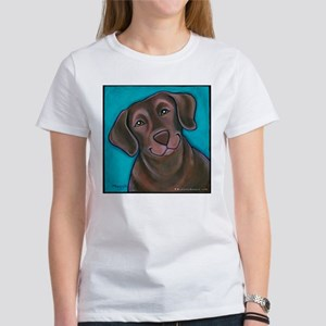 "Chocolate Lab ""Hershey"" Women's T-Shirt"