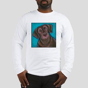 "Chocolate Lab ""Hershey"" Long Sleeve T-Shirt"
