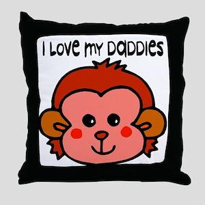 #6 I Love My Daddies Throw Pillow