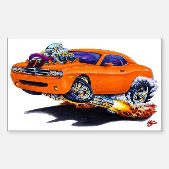 Challenger Orange Car Rectangle Decal
