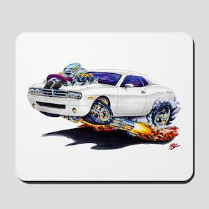 Challenger White Car Mousepad