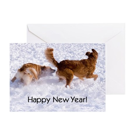 """""""Happy New Year"""" Greeting Cards"""