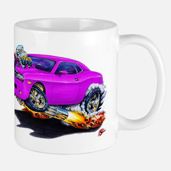 Challenger Purple Car Mug