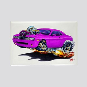 Challenger Purple Car Rectangle Magnet