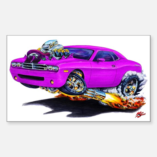 Challenger Purple Car Rectangle Decal