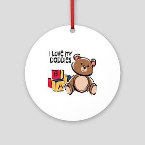 #1 I Love My Daddies Ornament (Round)