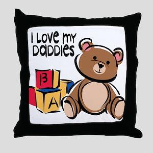 #1 I Love My Daddies Throw Pillow