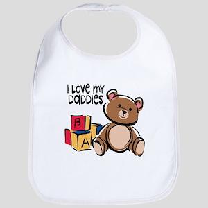 #1 I Love My Daddies Bib