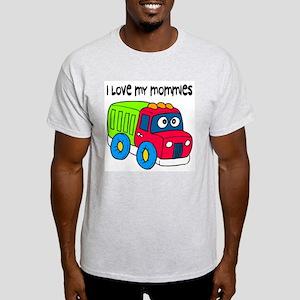 #10 I Love My Mommies Ash Grey T-Shirt