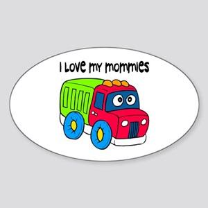 #10 I Love My Mommies Oval Sticker