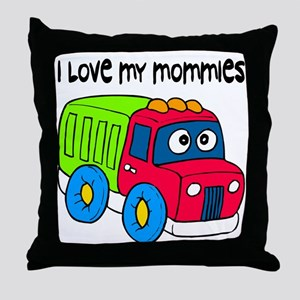 #10 I Love My Mommies Throw Pillow