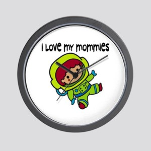 #8 I Love My Mommies Wall Clock