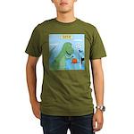 T-Rex Basketball Organic Men's T-Shirt (dark)