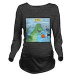 T-Rex Basketball Long Sleeve Maternity T-Shirt