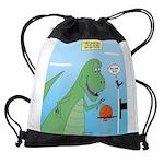 T-Rex Basketball Drawstring Bag