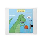 T-Rex Basketball Throw Blanket