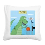 T-Rex Basketball Square Canvas Pillow