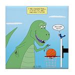 T-Rex Basketball Tile Coaster