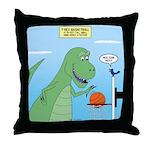 T-Rex Basketball Throw Pillow