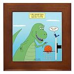 T-Rex Basketball Framed Tile