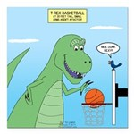 T-Rex Basketball Square Car Magnet 3