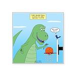 T-Rex Basketball Square Sticker 3