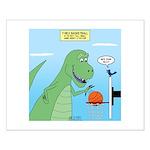 T-Rex Basketball Small Poster