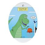 T-Rex Basketball Oval Ornament