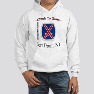 "10th Mountain Div ""Climb To G Hooded Sweatshirt"