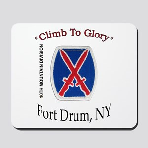 "10th Mountain Div ""Climb To G Mousepad"