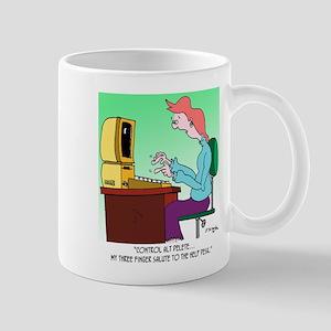 Computer Cartoon 8986 11 oz Ceramic Mug