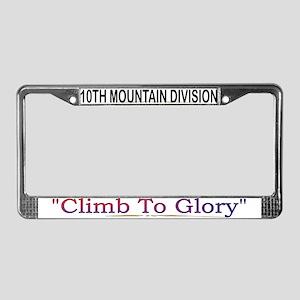 "10th Mountain Div ""Climb To G License Plate F"