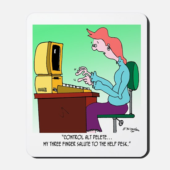 Computer Cartoon 8986 Mousepad