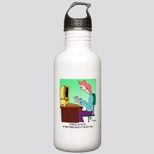 Computer Cartoon 8986 Stainless Water Bottle 1.0L