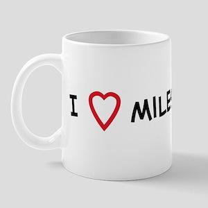 I Love miles Mug