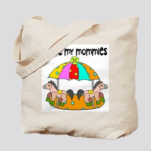 #3 I Love My Mommies Tote Bag