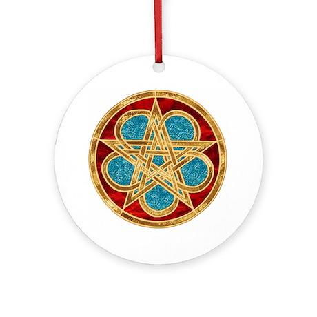 Celtic Pentacle Ornament (Round)