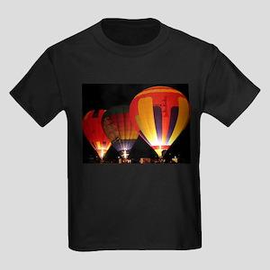 Hot Air Balloon Kids Dark T-Shirt