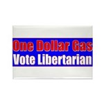 Dollar Gas Rectangle Magnet