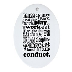 The Conductor Life Oval Ornament