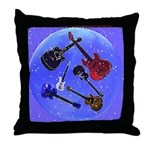 Guitars In A Bubble Throw Pillow